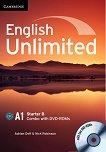 English Unlimited - Starter (A1): Комплект по английски език Combo B - част 2 + 2 DVD-ROM - Adrian Doff, Nick Robinson -