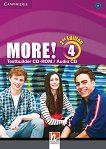 MORE! - ниво 4 (B1): CD с тестове по английски език Second Edition -