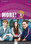 MORE! - ниво 4 (B1): CD с тестове по английски език : Second Edition -