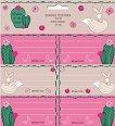 Етикети за тетрадки - Wonderful Desert - Комплект от 18 броя - продукт