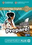 Prepare! - ниво 2 (A2): Presentation Plus - DVD-ROM с материали за учителя по английски език First Edition - учебна тетрадка
