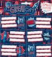 Етикети за тетрадки - The Great CIty - Комплект от 18 броя - тетрадка