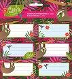 Етикети за тетрадки - Slofy - Комплект от 18 броя - книга