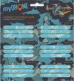 Етикети за тетрадки - My Drone - Комплект от 18 броя - книга
