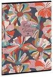 Ученическа тетрадка - Floral Collage : Формат А4 с широки редове - 40 листа -