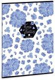 Ученическа тетрадка - Floral Hortenzia : Формат А4 с широки редове - 40 листа -