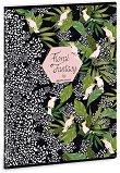 Ученическа тетрадка - Floral Kakadu : Формат А4 с широки редове - 40 листа - тетрадка