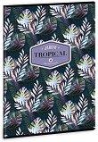 Ученическа тетрадка - Tropical Palm Leaf Формат А4 с широки редове - тетрадка
