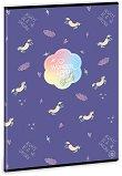 Ученическа тетрадка - Unicorn : Формат А4 с широки редове - 40 листа -
