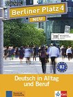 Berliner Platz Neu - ниво 4 (B2): Комплект от учебник и учебна тетрадка по немски език + 2 CD - Eva Harst, Susan Kaufmann, Anna Pilaski, Margret Rodi, Lutz Rohrmann, Ralf Sonntag - продукт