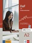 DaF im Unternehmen - ниво A2: Комплект от учебник и учебна тетрадка по бизнес немски език + онлайн материали -