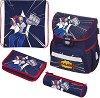 Ученическа раница - Loop: Comic Hero - Комплект с 2 несесера и спортна торба -