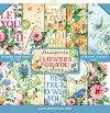 Хартии за скрапбукинг - Цветя за теб - Комплект от 10 броя с размер 20.3 х 20.3 cm