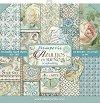 Хартии за скрапбукинг - Орнаменти с цветя и пеперуди - Комплект от 10 броя с размер 30.5 х 30.5 cm -