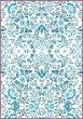 Декупажна хартия - Сини цветя - Формат А4 -