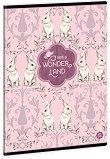 Ученическа тетрадка - Wonderland Rabbits : Формат А5 с широки редове - 40 листа -