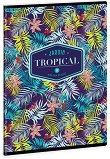 Ученическа тетрадка - Tropical Lily Flower : Формат А5 с широки редове - 40 листа -