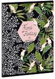 Ученическа тетрадка - Floral Kakadu Формат А5 с широки редове - тетрадка