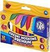 Восъчни пастели - Premium - Комплект от 12, 18 или 24 цвята -
