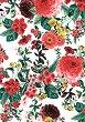 Декупажна хартия - Цветя - Размери 30 x 40 cm -