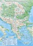 Природногеографска карта на Балканския полуостров - M 1:600 000 -