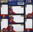 Етикети за тетрадка - Барселона - Комплект от 7 броя -
