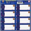 Етикети за тетрадка - Барселона - Комплект от 8 броя - тетрадка