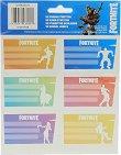 Етикети за тетрадки - Fortnite: Dances - Комплект от 18 броя -