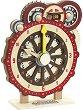 Дървен часовник - Детска дървена образователна играчка -