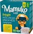 Mamuko - Био безмлечна пълнозърнеста каша с овес, зелена елда и ечемик - Опаковка от 240 g за бебета над 12 месеца -