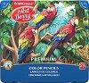 Цветни моливи - Premium - Комплект от 24 цвята в метална кутия -