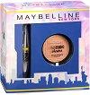 Подаръчен комплект - Maybelline Colossal Platinum & Master Chrome - Спирала за обемни мигли и хайлайтър -