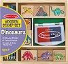 Динозаври - Творчески комплект с дървени печати -