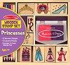 Принцеси - Творчески комплект с дървени печати -