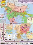 Стенна карта: Балканските войни 1912 - 1913 г. -