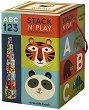 """Пирамида от кубчета - Букви и цифри - Образователна играчка от серията """"Crocodile Creek"""" -"""