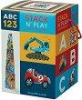 """Пирамида от кубчета - Превозни средства - Образователна играчка от серията """"Crocodile Creek"""" -"""