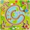 Лабиринт - Животни край езерото - Детска образователна играчка от дърво -