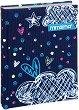 Тефтер с подплатени корици - Romantic blue - Размери 15 / 20 / 2.5 cm -