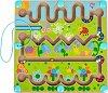 Магнитен лабиринт - Цветна градина - Детска логическа игра -