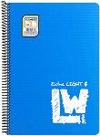 Ученическа тетрадка със спирала - Light Weight Paper : Формат A4 с широки редове - 100 листа -