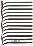 Ученическа тетрадка със спирала - Hope : Размери 19 x 26 cm с широки редове - 80 листа -