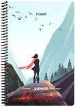 Ученическа тетрадка със спирала - Adventure : Размери 17 x 24 cm с широки редове - 80 листа - тетрадка