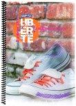Ученическа тетрадка със спирала - Liberte : Формат A4 с широки редове - 80 листа -
