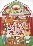 Ферма - книжка със стикери за многократна употреба Farm - Puffy Sticker Play Set - детска книга