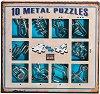 Метални пъзели - Комплект от 10 броя 3D пъзела - игра