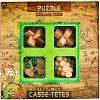 """Junior Wooden Puzzles - Комплект от 4 броя 3D пъзела от серията """"Casse-Tetes"""" -"""
