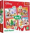 """Коледа с Мики Маус и приятели - 4 пъзела от серията """"Мики Маус"""" -"""