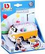 """Количка с топчета - Volkswagen Type 2 - Детска играчка с pull-back механизъм от серията """"Junior"""" -"""