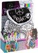 Раница за оцветяване с пайети - Peace - Комплект с текстилни маркери за оцветяване -